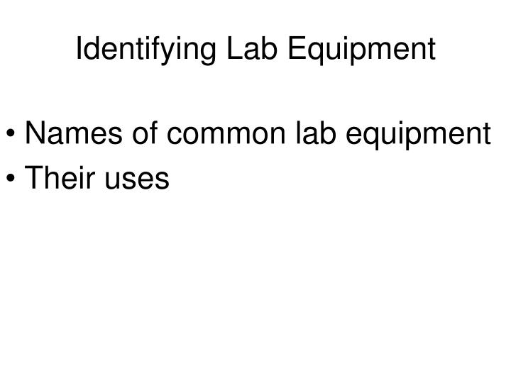 identifying lab equipment n.