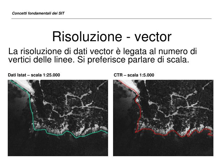 Risoluzione - vector