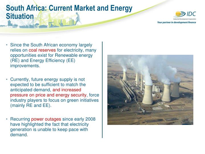 South Africa: Current Market and Energy Situation