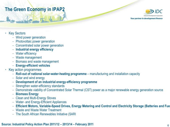 The Green Economy in IPAP2