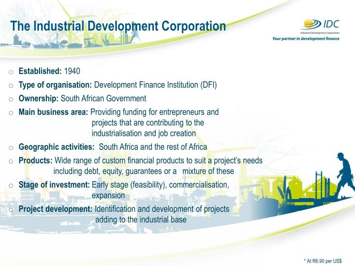 The industrial development corporation