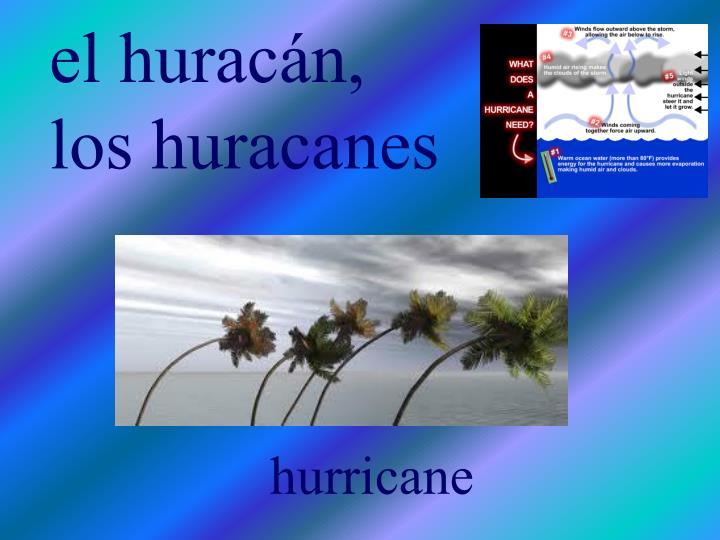 El hurac n los huracanes