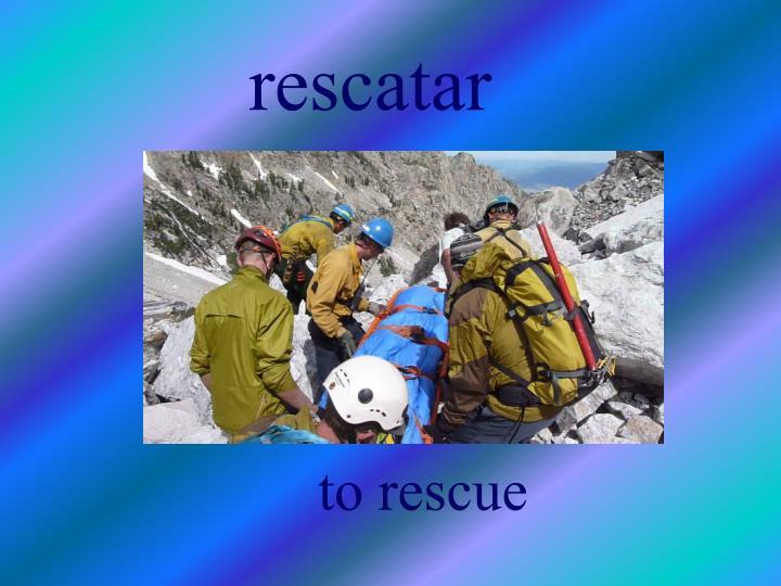 rescatar