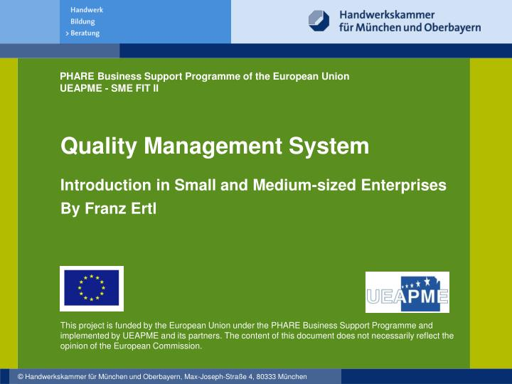 introduction of a small medium sized enterprise Globe, around 90 per cent are small and medium-sized enterprises (smes) 2  introduction 1world bank institute (2004), the costs of corruption (article)  2 corruption prevention to foster small and medium-sized enterprise development 3wb/ebrd (2000), beeps,.
