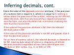 inferring decimals cont