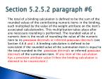 section 5 2 5 2 paragraph 6