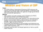 mission and vision of oip