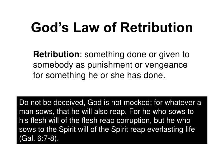 Image result for god of retribution