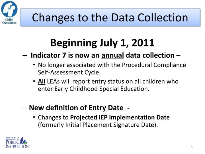 Changes to the Data Collection