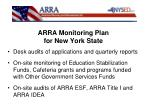 arra monitoring plan for new york state