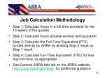 job calculation methodology