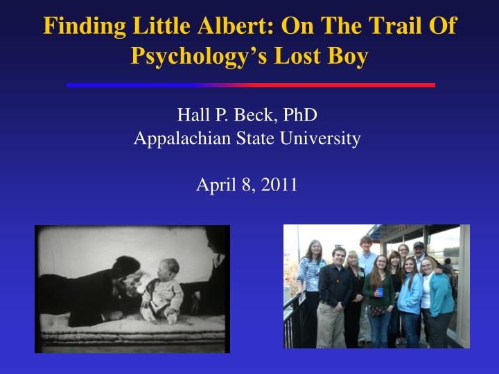finding little albert on the trail of psychology s lost boy n.