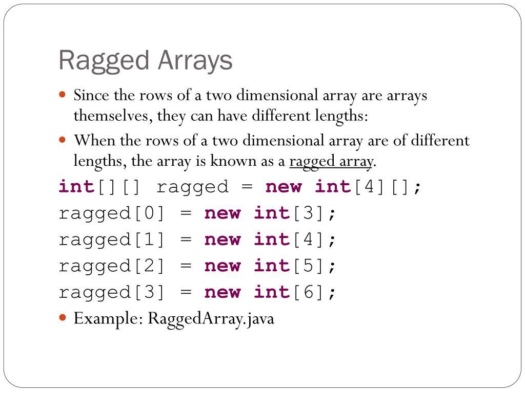 PPT - Arrays: Higher Dimensional Arrays PowerPoint