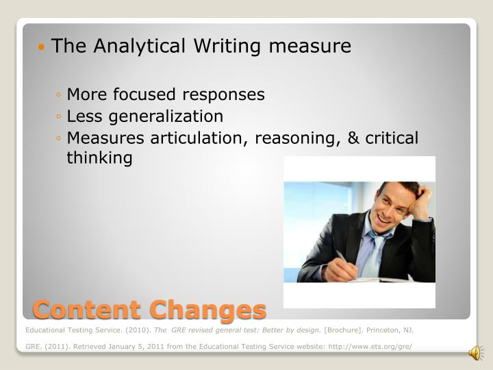 The Analytical Writing measure