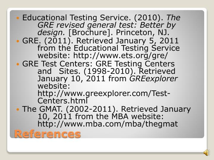 Educational Testing Service. (2010).
