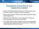 comparison of outcome to non cooperative solution