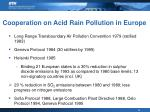 cooperation on acid rain pollution in europe
