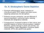 ex a stratospheric ozone depletion