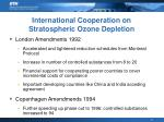 international cooperation on stratospheric ozone depletion1