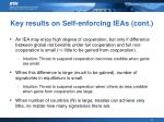 key results on self enforcing ieas cont