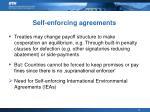 self enforcing agreements