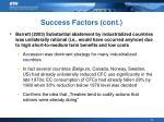 success factors cont