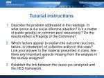 tutorial instructions