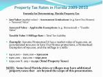 property tax rates in florida 2009 2010