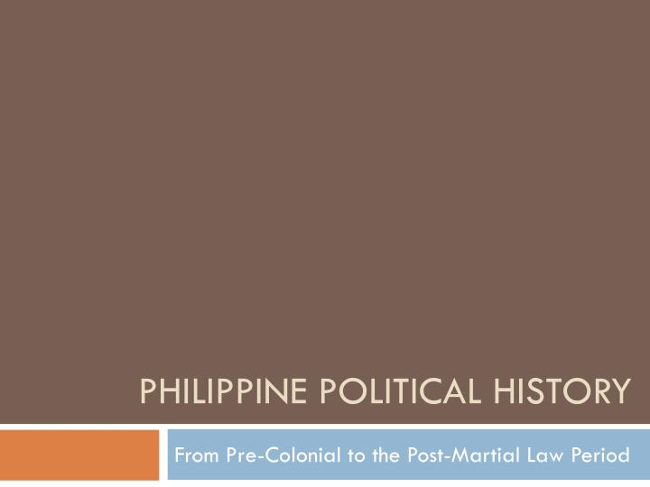philippine political history n.