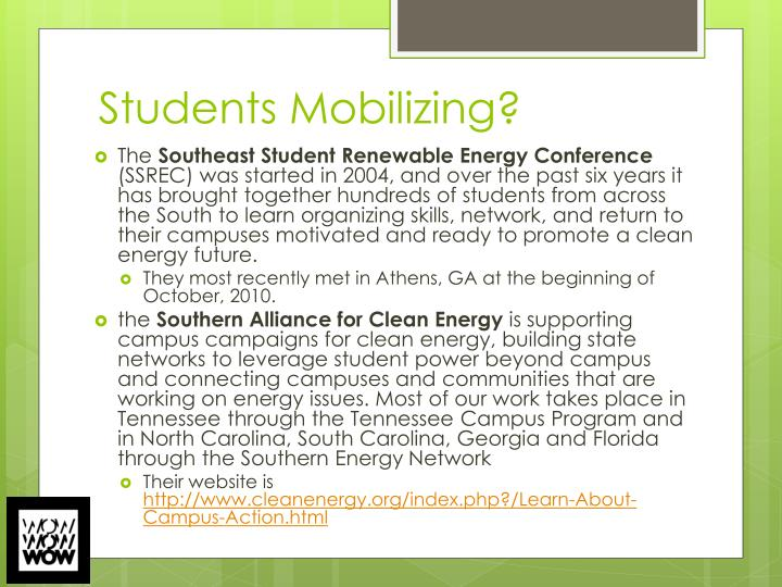 Students Mobilizing?