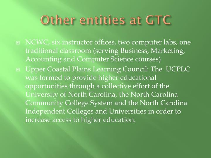 Other entities at GTC