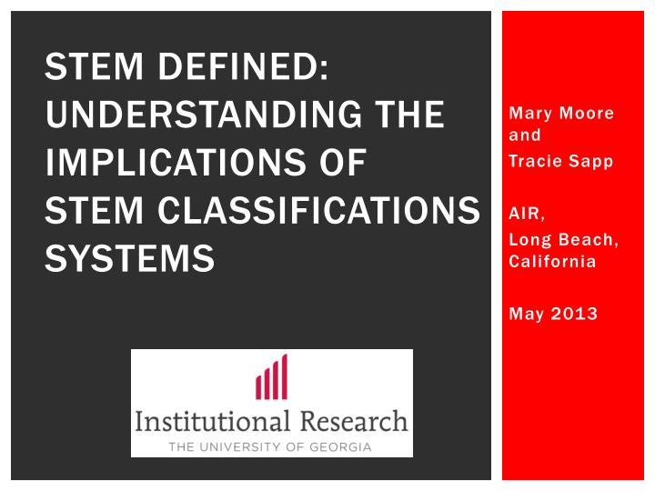 stem defined understanding the implications of stem classifications systems n.