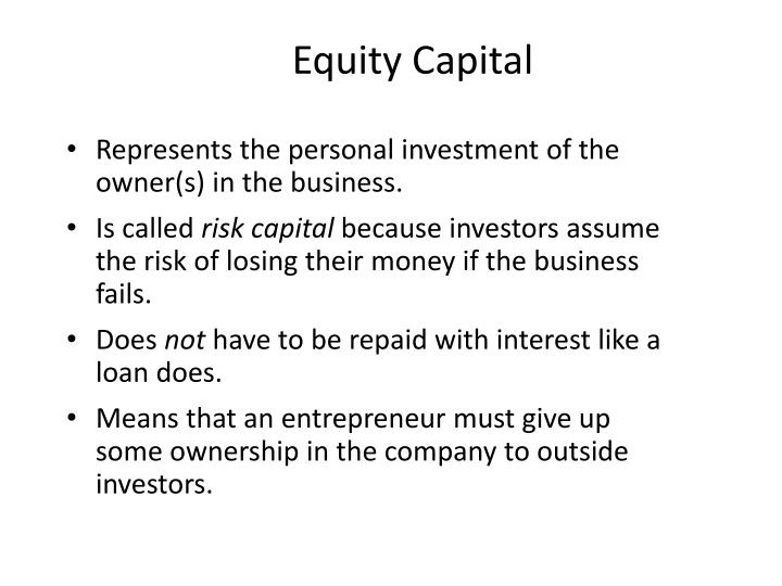 Equity Capital