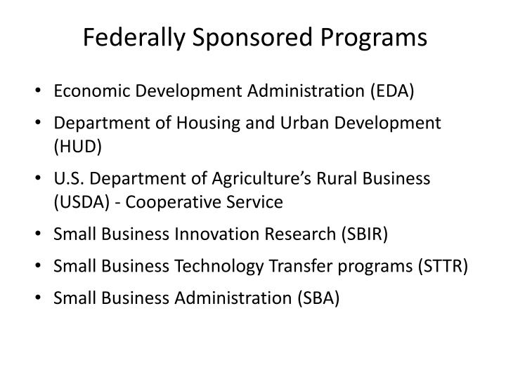 Federally Sponsored Programs