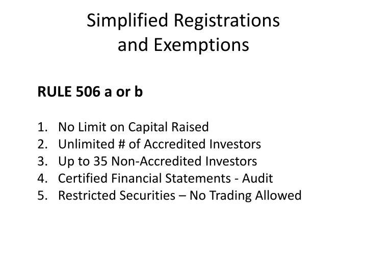 Simplified Registrations