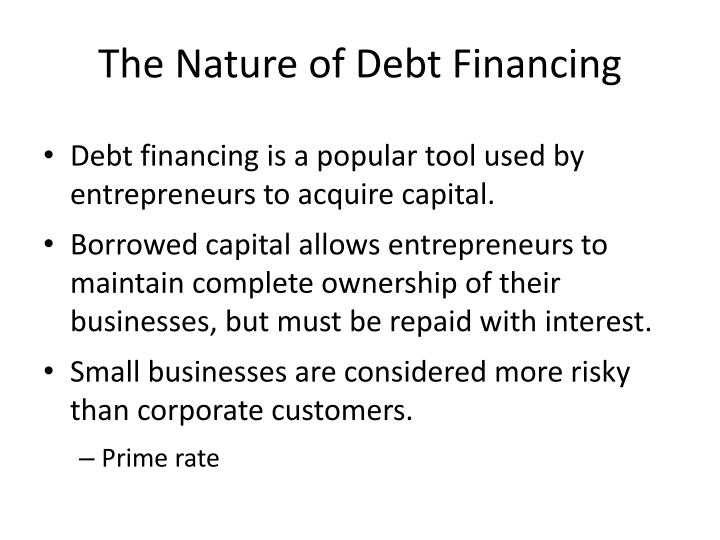 The Nature of Debt Financing
