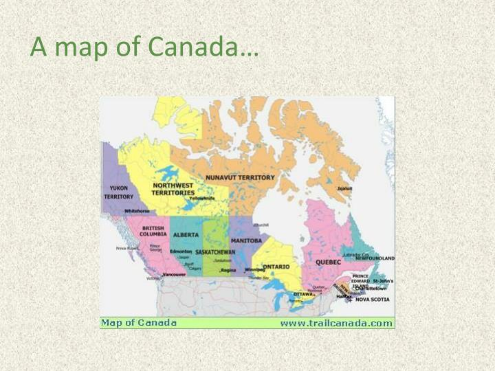 A map of canada