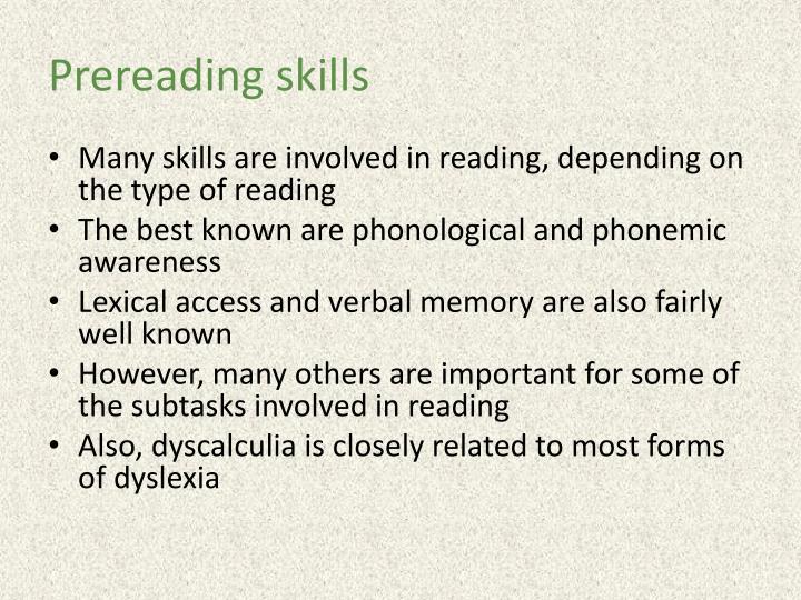 Prereading
