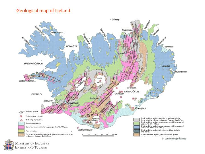 Geological map of Iceland