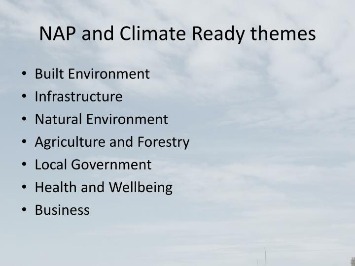 NAP and Climate Ready themes
