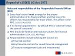 repeal of s150 5 lg act 19723