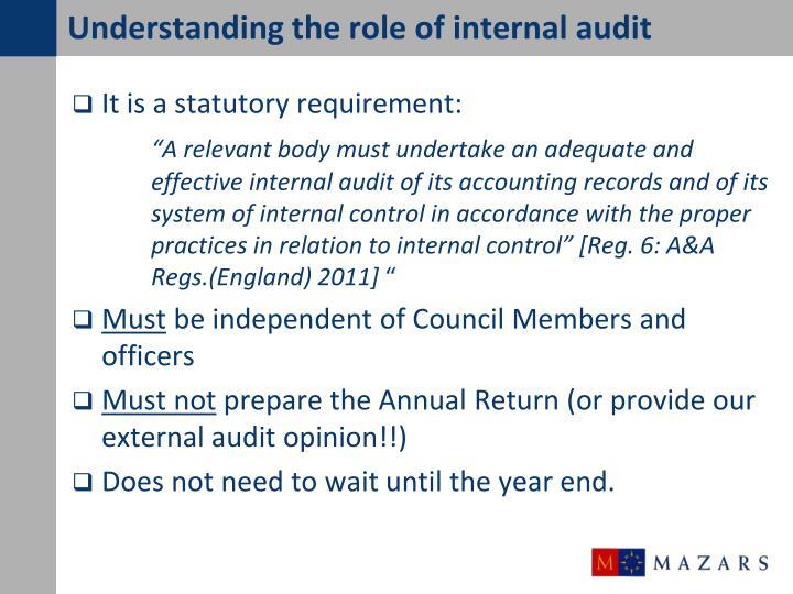 Understanding the role of internal audit