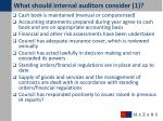 what should internal auditors consider 1