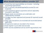 what should internal auditors consider 2