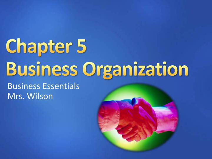 chapter 5 business organization n.