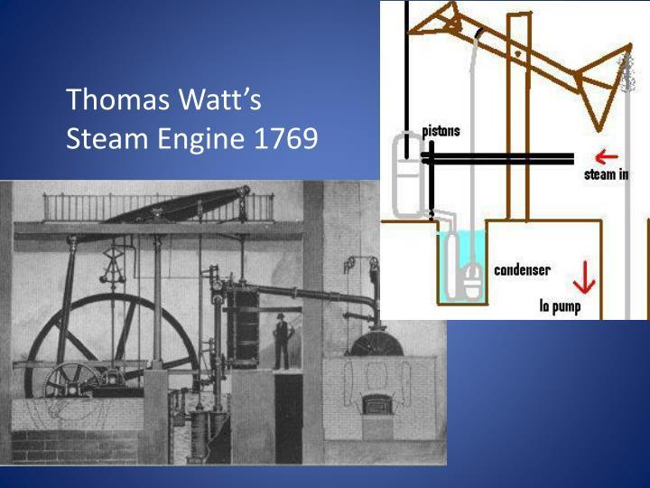 Thomas Watt's Steam Engine 1769