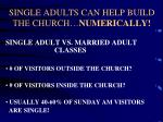 single adults can help build the church numerically
