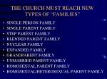 the church must reach new types of families