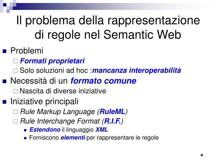Il problema della rappresentazione di regole nel Semantic Web