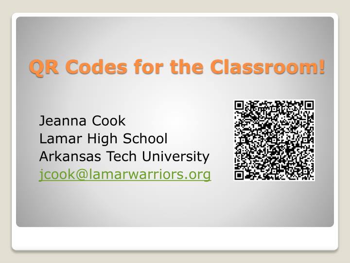 qr codes for the classroom n.